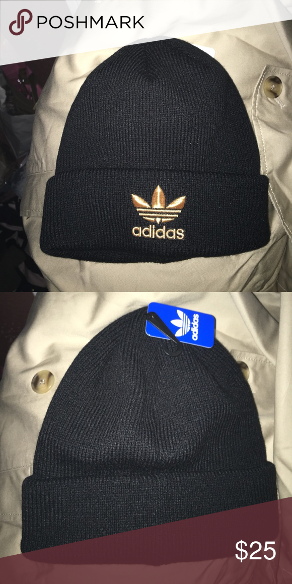 Adidas beanie with gold  2ecd04803c9