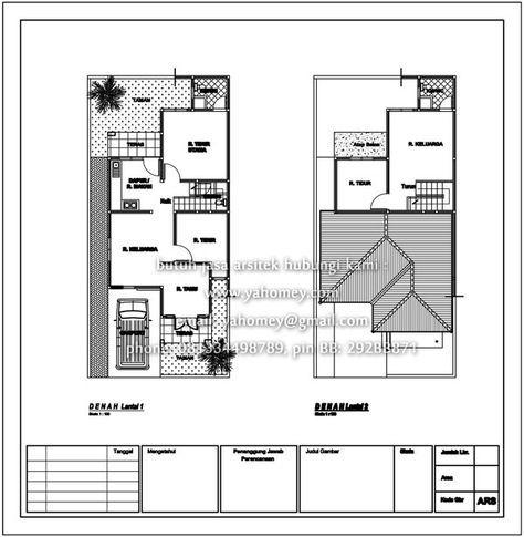 plan rumah 2 tingkat - design rumah terkini