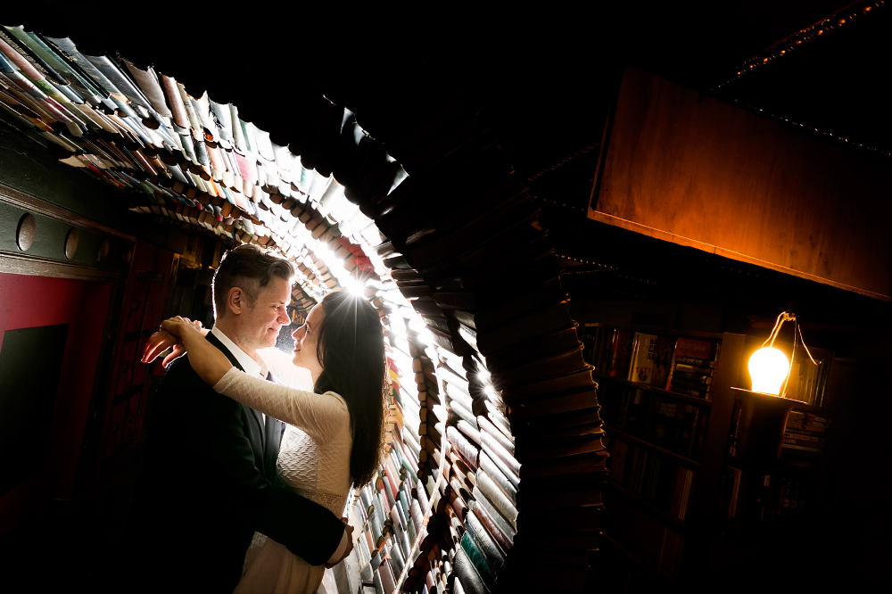 The Last Bookstore Engagement Session Los Angeles Engagement The Last Bookstore Downtown Los Angeles