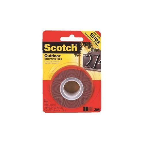 3m scotch heavy duty interior exterior mounting tape silver