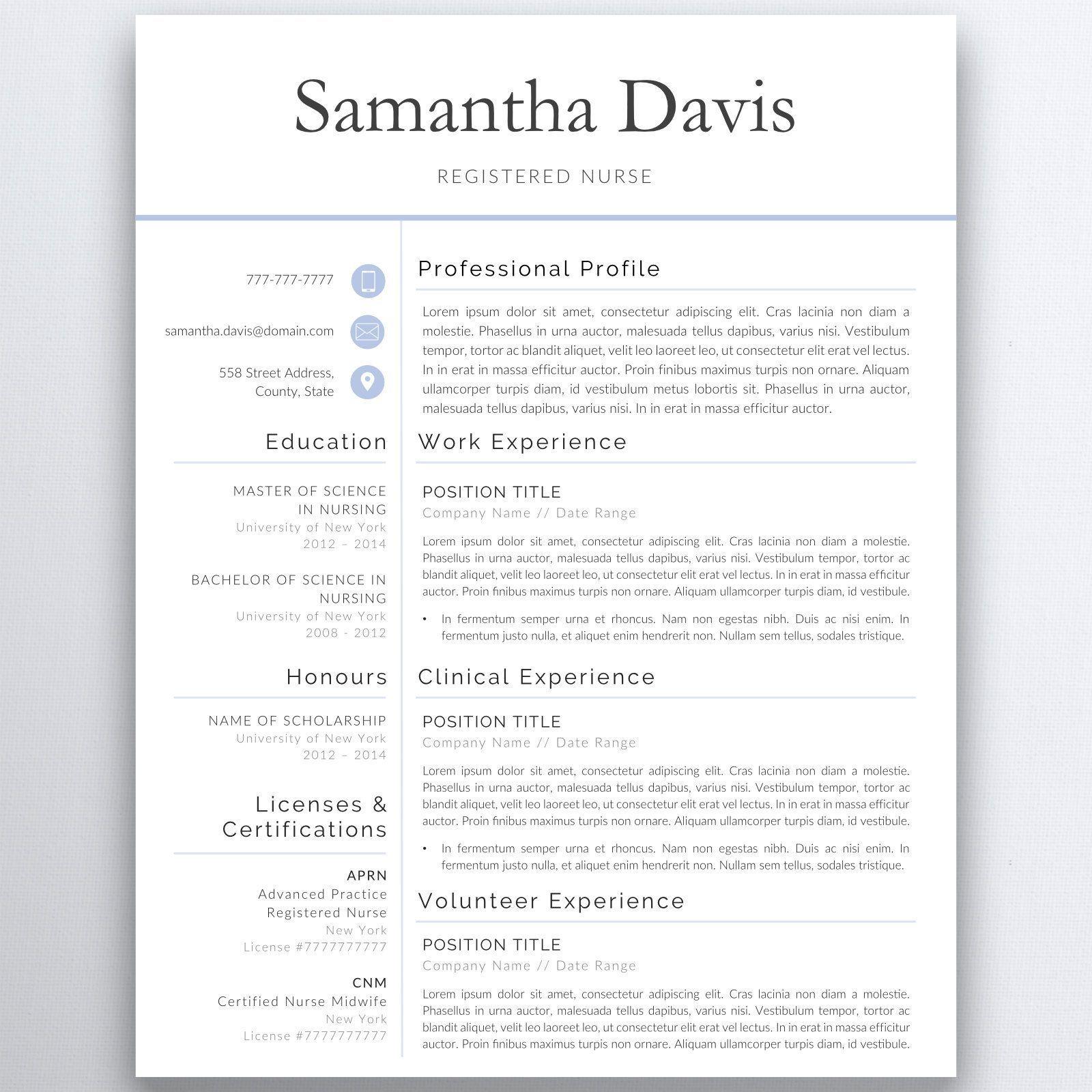 Graduate nursing resume template nurse resume template