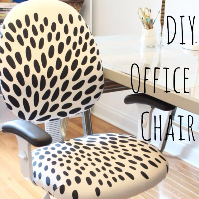 DIY office chair with #IKEA fabric www.simplestylings.com
