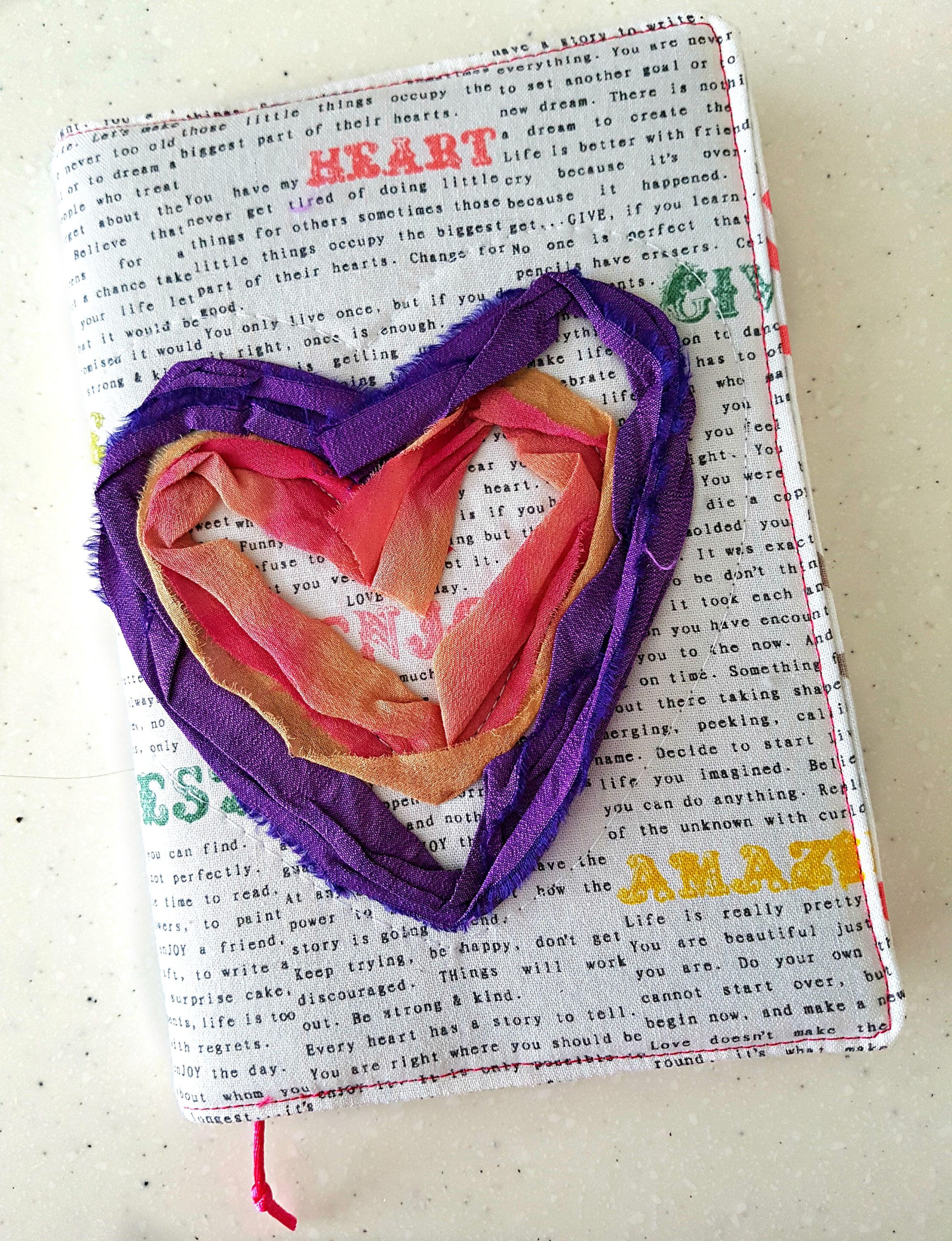 22522dc193553 Love Heart Quilted Journal   Journal Notebook   Small Gift Idea   Writing  Journal   Handmade Journals   Valentines Gift Ideas for Her by  DarcyDoodleQuilts ...