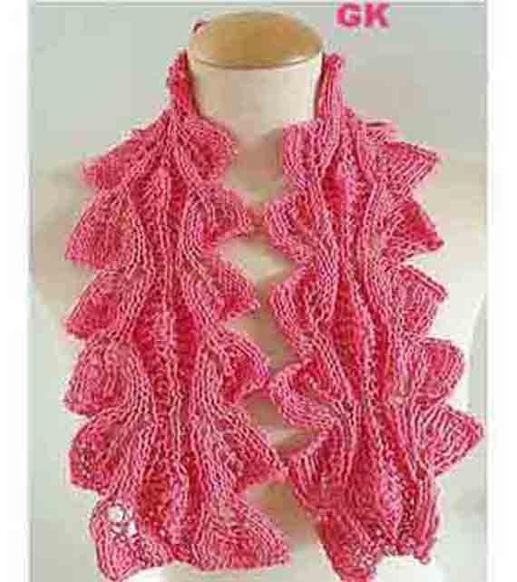 PDF Pattern Scarf Tulip Leaf Hand Knit