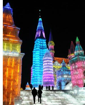 China's Amazing Snow & Ice Festival  Harbing!  I have actually been there!!! Woot woot!  Pretty Awesome place! I loved the ice slides!