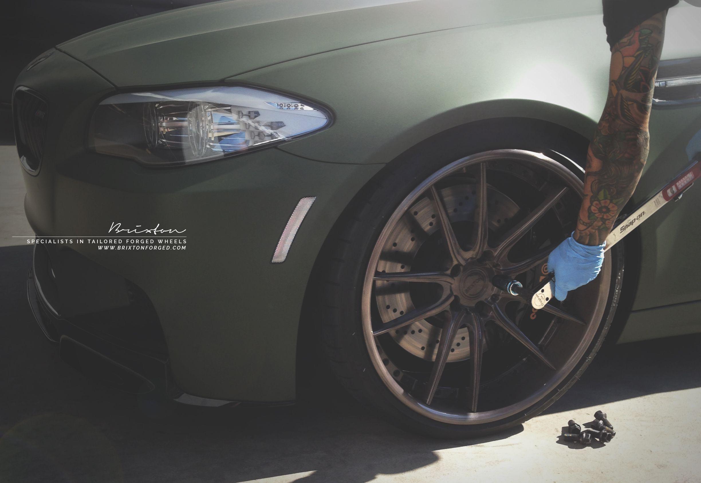 BMW F10 M5 // Men's Tattoo // BRIXTON FORGED M53 Monaco Series wheels