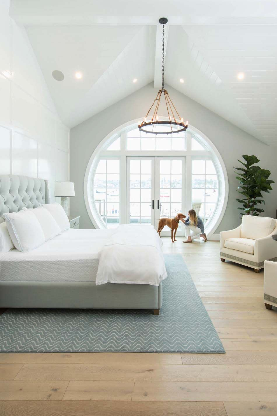 Cape Cod inspired home with beautiful Bayfront views in Newport Beach #bedroominspirations