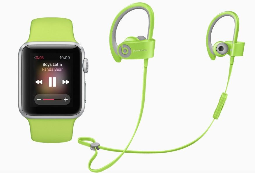 Apple watch & powerbeats2 green