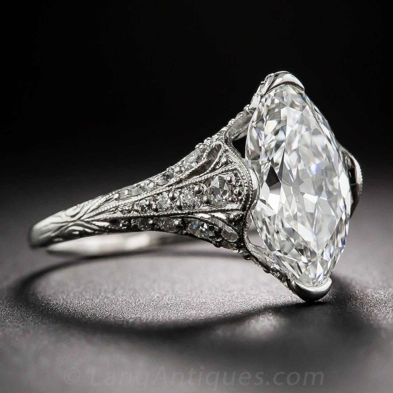 Tiffany & Co. Edwardian 3.14 Carat Marquise Diamond