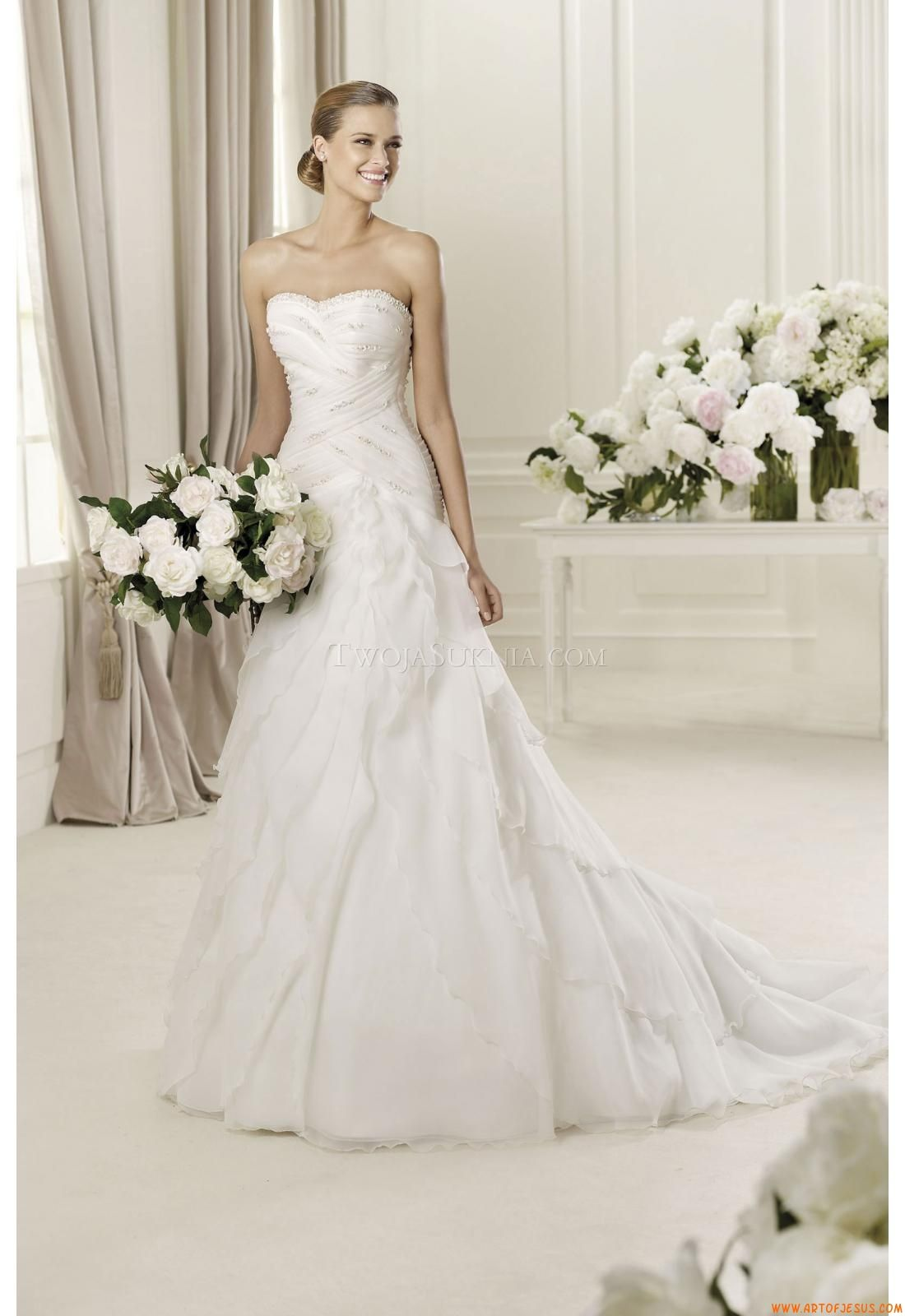 Buy Wedding Dress Pronovias Diana 2013 At Cheap Price