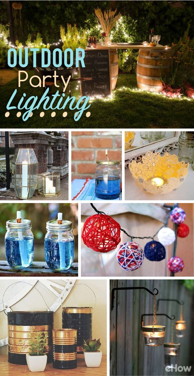 Inexpensive Outdoor Party Lighting Ideas | Outdoor party ...