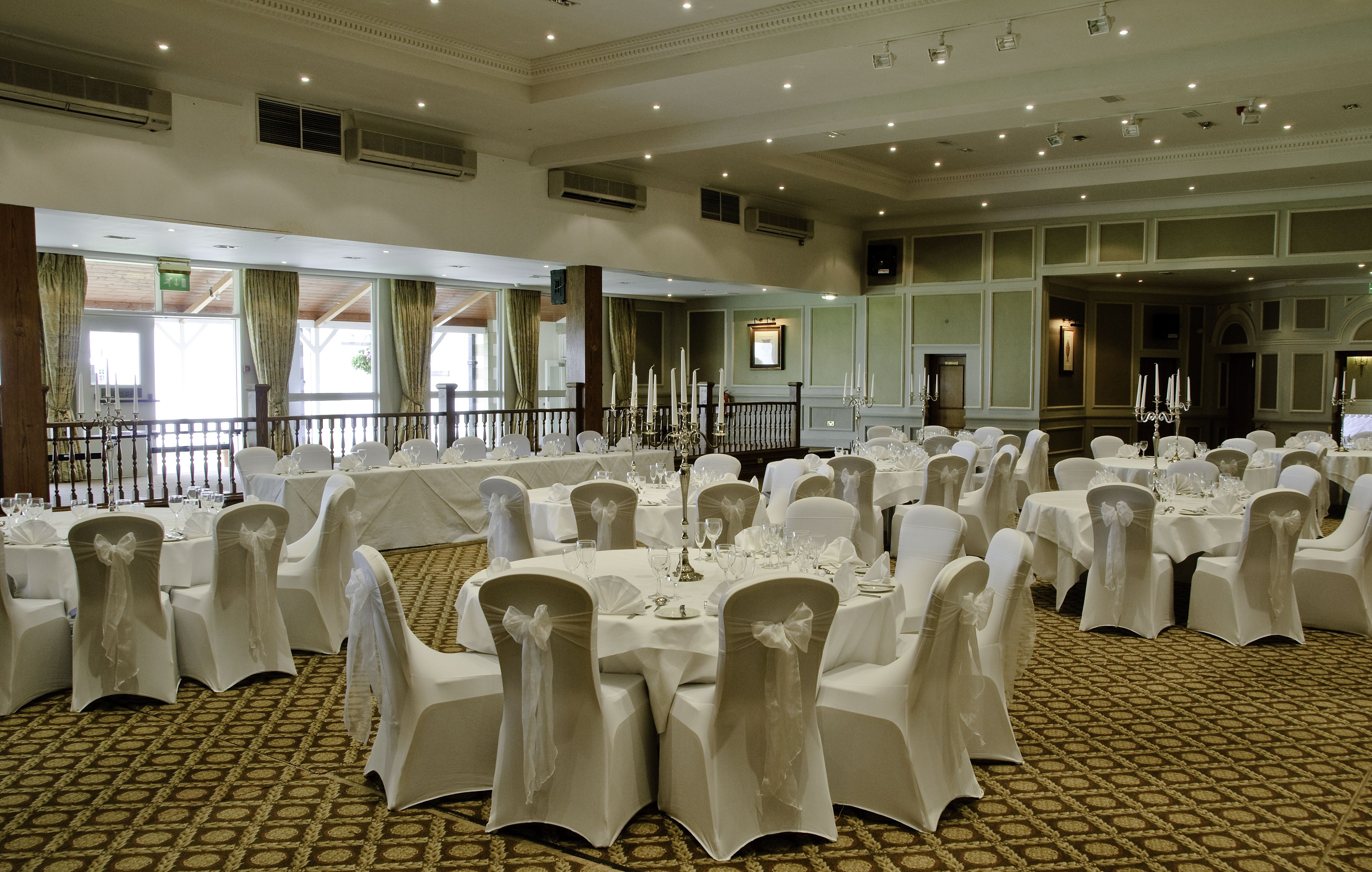 Wedding Chair Covers Burton On Trent Baby Sitting In Car Dunkenhalgh Hotel Pendle Suite White
