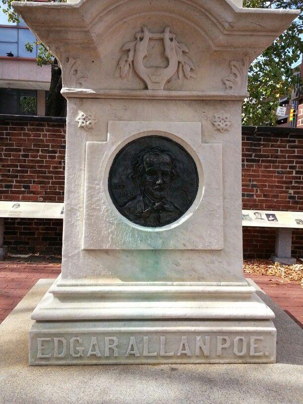 Wonderful mausoleums from 1800s+ including Edgar Allen Poe #Poe #Baltimore #burial #gravesite #sculpture #art #Poetry