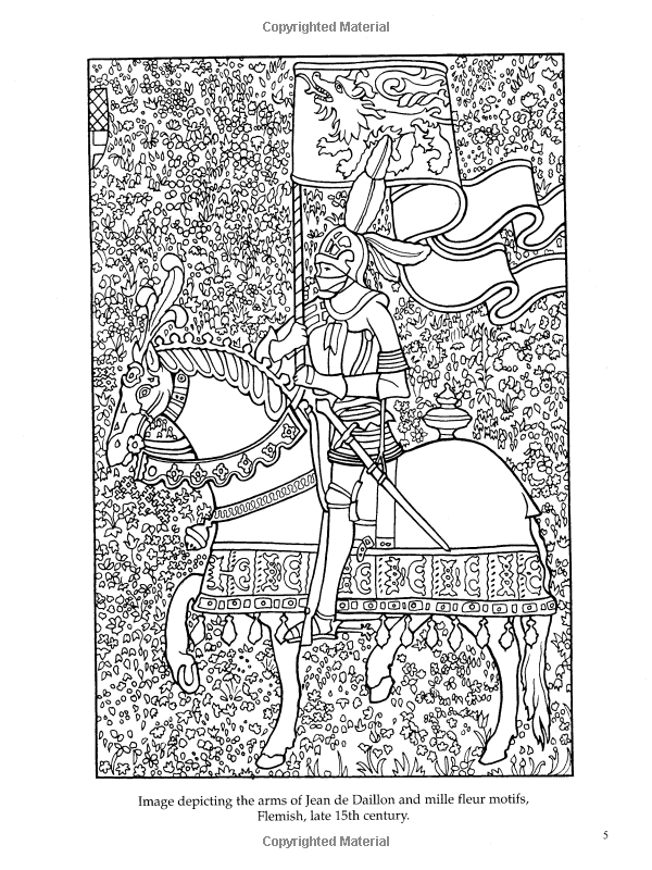 Medieval tapestries coloring book dover fashion coloring book marty noble 9780486436869