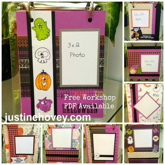Card Making Ideas Pdf Part - 28: Justineu0027s Cardmaking, Scrapbooking And Papercrafting: FREE PDF Guide For  Halloween Mini Album