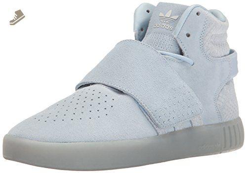 adidas Originals Women's Tubular Invader Strap w Fashion Sneaker, Easy Blue  Easy Blue Pearl Opal