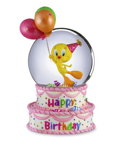 Take a look at this Tweety 'Happy Birthday' Musical Snow Globe by Looney Tunes on #zulily today!