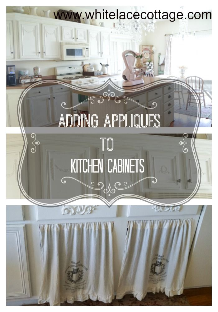 Interior Kitchen Cabinet Appliques update kitchen cabinets on a budget white lace kitchens and shabby sharing this easy way to add appliques these efex appliquest are so