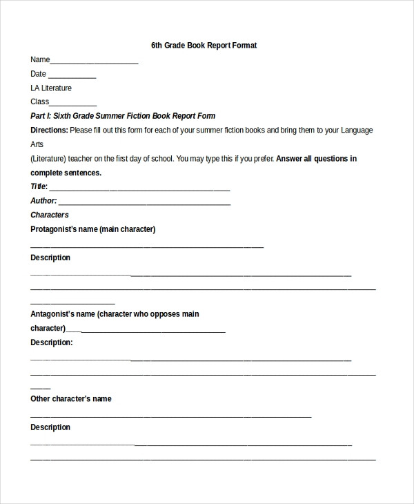 7Th Grade Book Report Template from i.pinimg.com