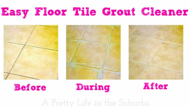DIY Tile Grout Cleaner Makes Grout Look Like New with Less Scrubbing | Tile  grout cleaner, Tile grout and Grout