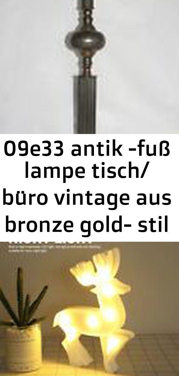 09e33 Antik Fuss Lampe Tisch Buro Vintage Aus Bronze Gold Stil Louis Xvi Antiquitat 3d Led Lampe Nachtlicht Weihnachtsnetter Elch Einfach Decor Vintage Lamp