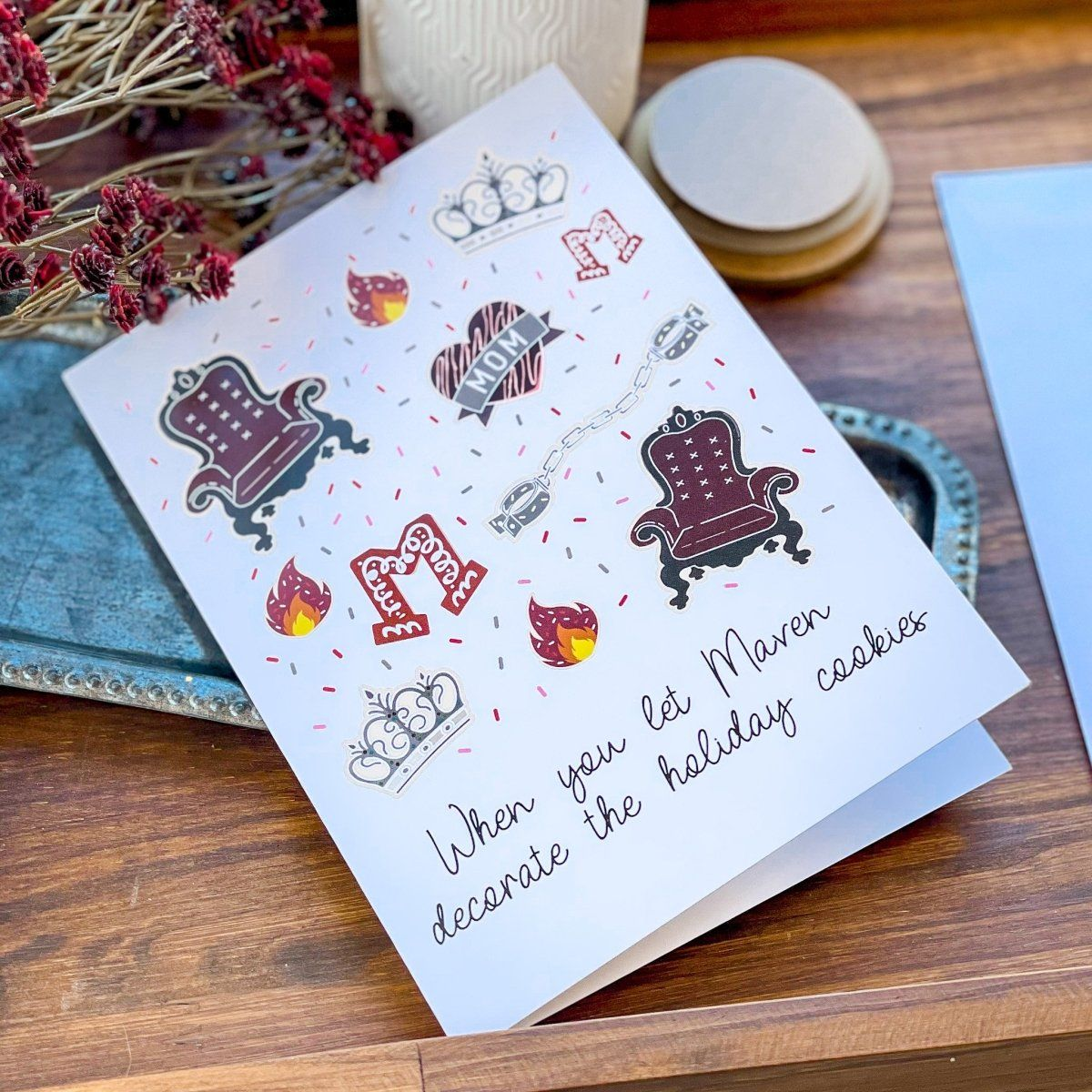 The Red Queen Holiday Card