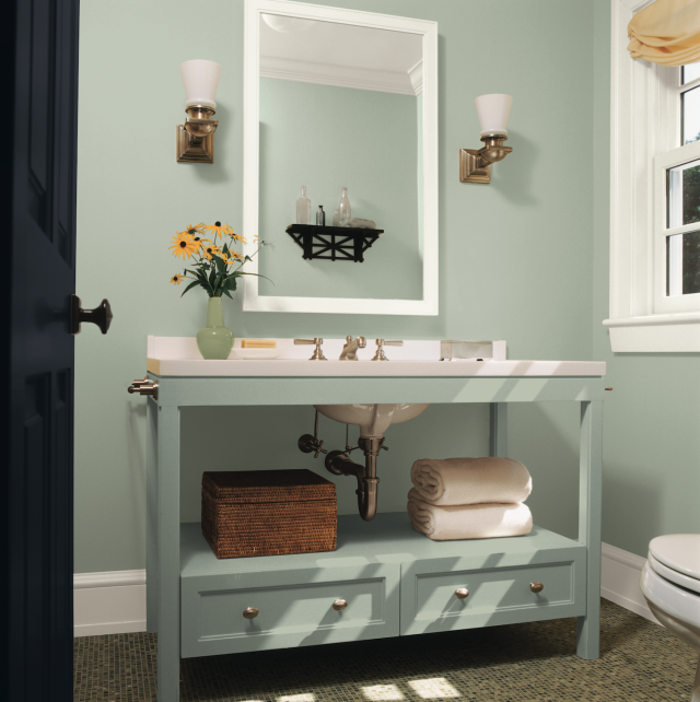 Small Space Check Out These Top Paint Colors From Ppg Glidden Olympic Glidden Paint Colors Top Paint Colors Bathroom Paint Colors