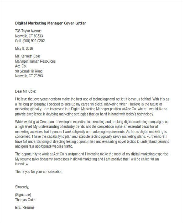 Cover Letter Template Digital Marketing Cover Coverlettertemplate Digital Lett Marketing Cover Letter Cover Letter Template Free Cover Letter For Resume