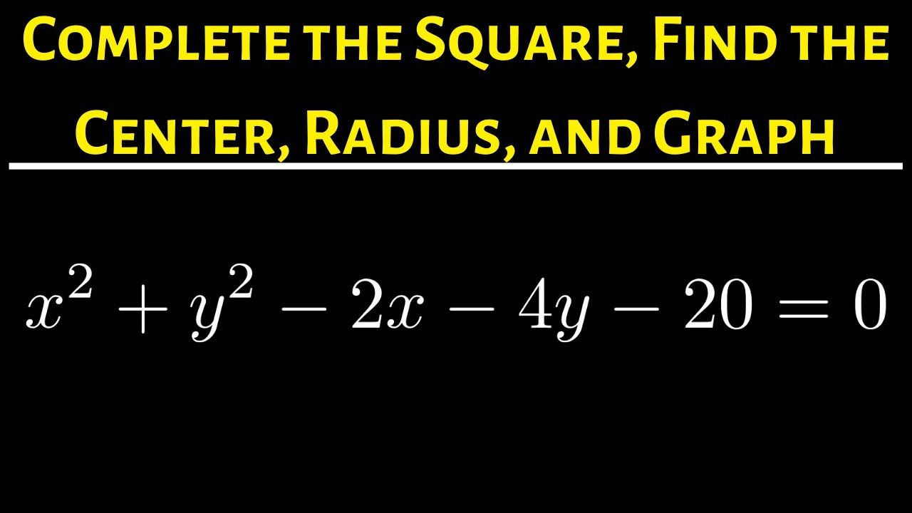 21 Write The Equation Of The Circle In Standard Form And Find The Cent Standard Form Math Videos Completing The Square [ 720 x 1280 Pixel ]
