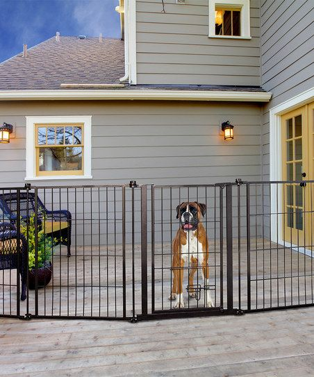 Whether Your Pets Need To Stay In A Room Or Stay In The Yard This Pet Gate Does The Trick By Expanding Up To Fit A Variety Outdoor Pet Gate Outdoor pet gate extra wide