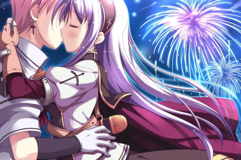 Anime people in love wallpaper desktop with images