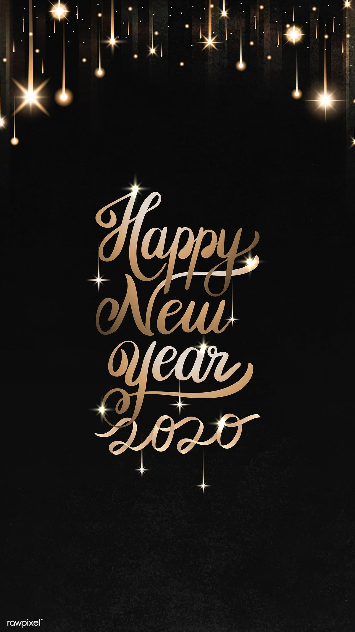 Download premium illustration of Happy New Year black