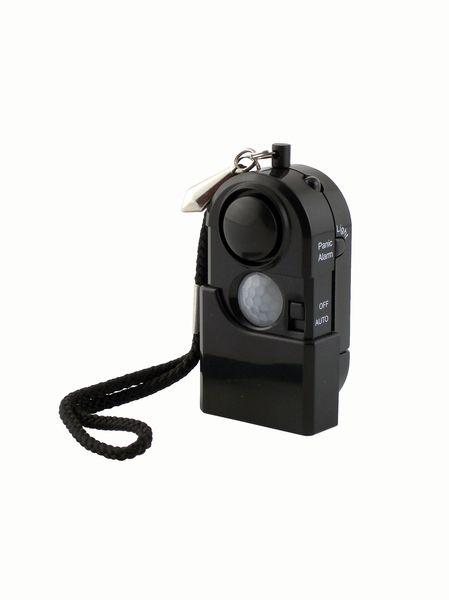 Personal Security Alarm PIR Motion Detector Sensor LED NEW Flashlight Travel