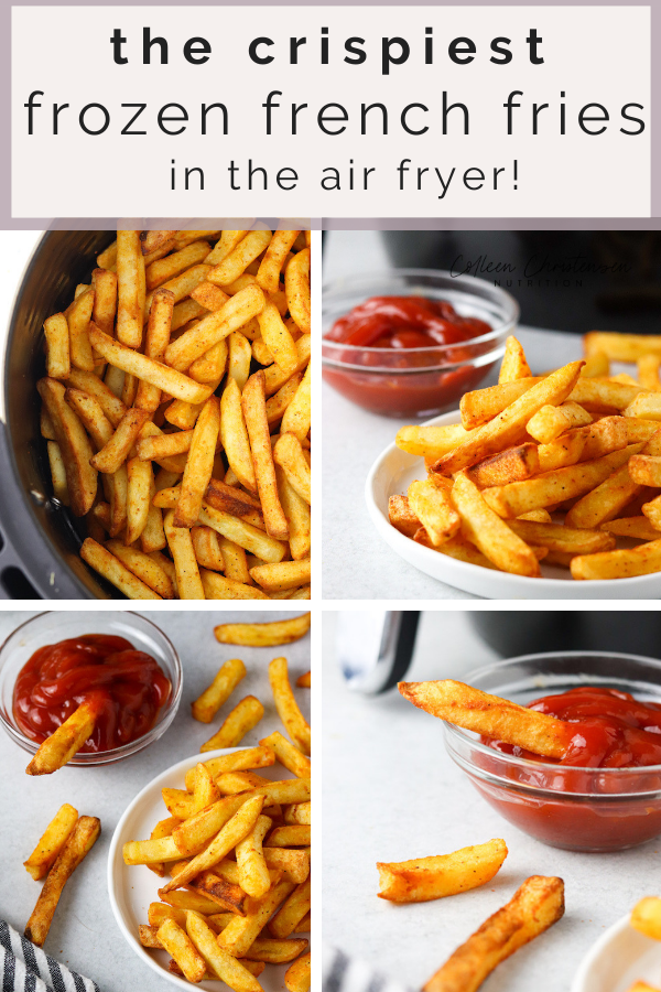 Make frozen french fries in the air fryer for the