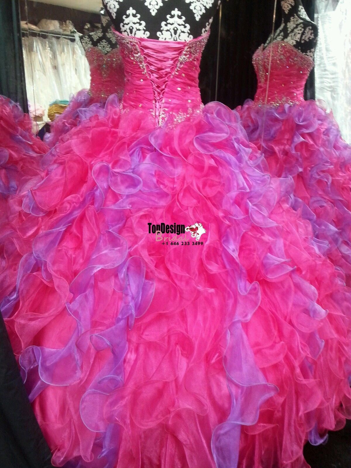 Wholesale 2017 Sweet 15 Dress Brand New Organza Quinceanera/Prom Dress/Ball Gown