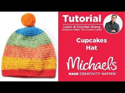 5d5fedbae75 How to Crochet Caron Cupcakes Pompom Hat  2 - 10 Years Old - YouTube ...