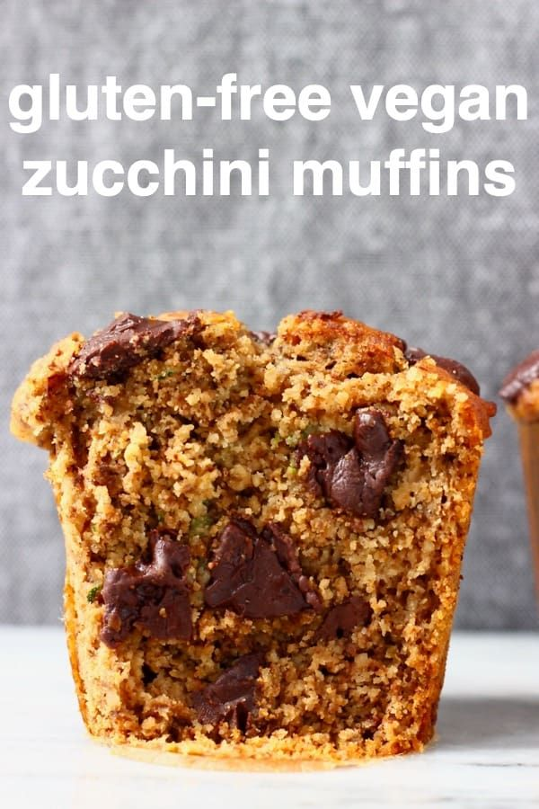 These GlutenFree Vegan Zucchini Muffins are seriously moist perfectly dense and studded with chocolate chips Theyre great for dessert breakfast brunch or a snack and tast...