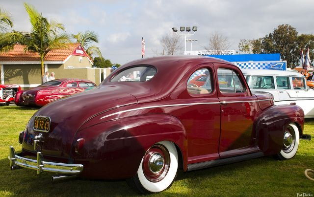 1941 Ford Standard Coupe 1941 Ford Super Deluxe Coupe Maroon