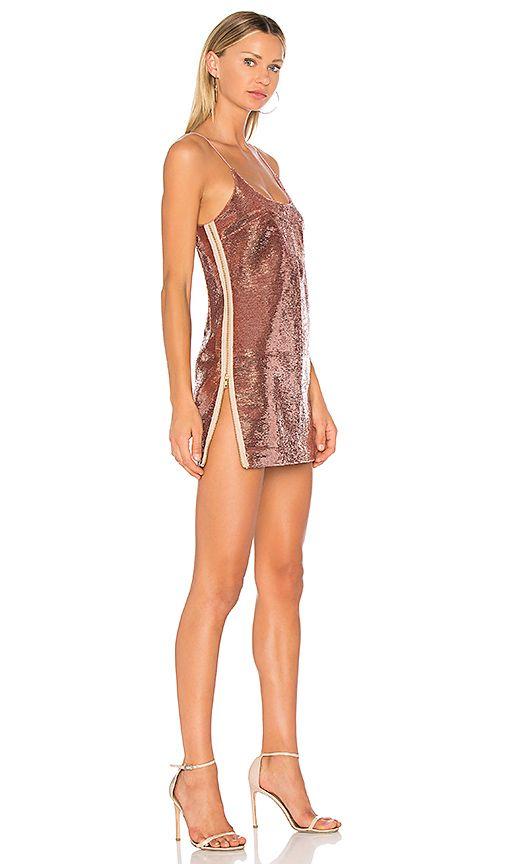 985ce168f8 Shop for VATANIKA High Zip Slit Sequin Slip Dress in Old Rose at ...