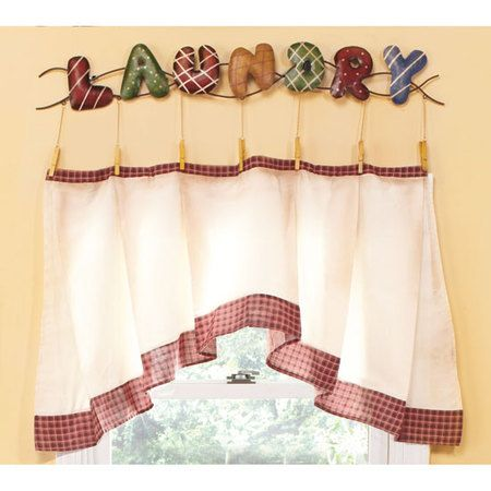 Home Decor Laundry Room Curtain And Metal Accent C