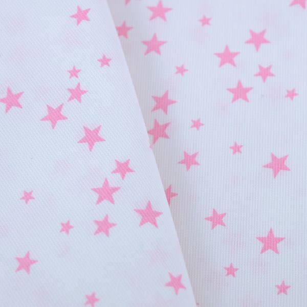 NOUVEAU Piqué de coton imprimé étoiles roses Les 3 mètres à 15 € !