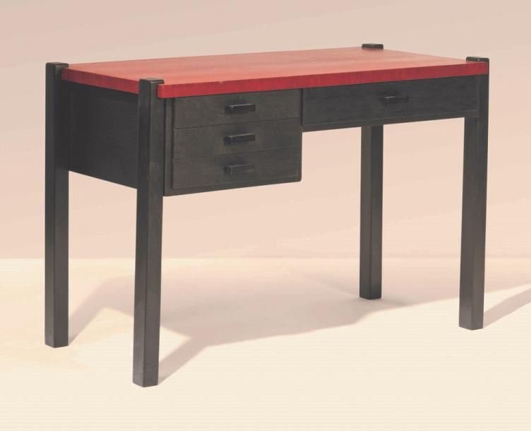 Huib hoste  bureau bois laqué bureau gelakt hout