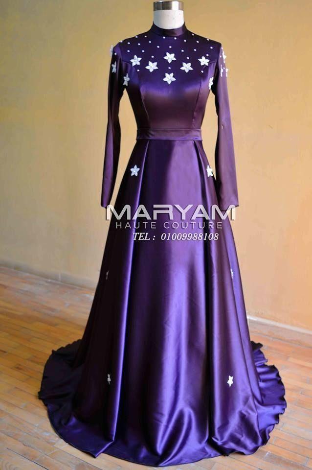 فساتين سواريه باللون الموف للمحجبات 1000 Soiree Dress Fancy Dress Design Dresses