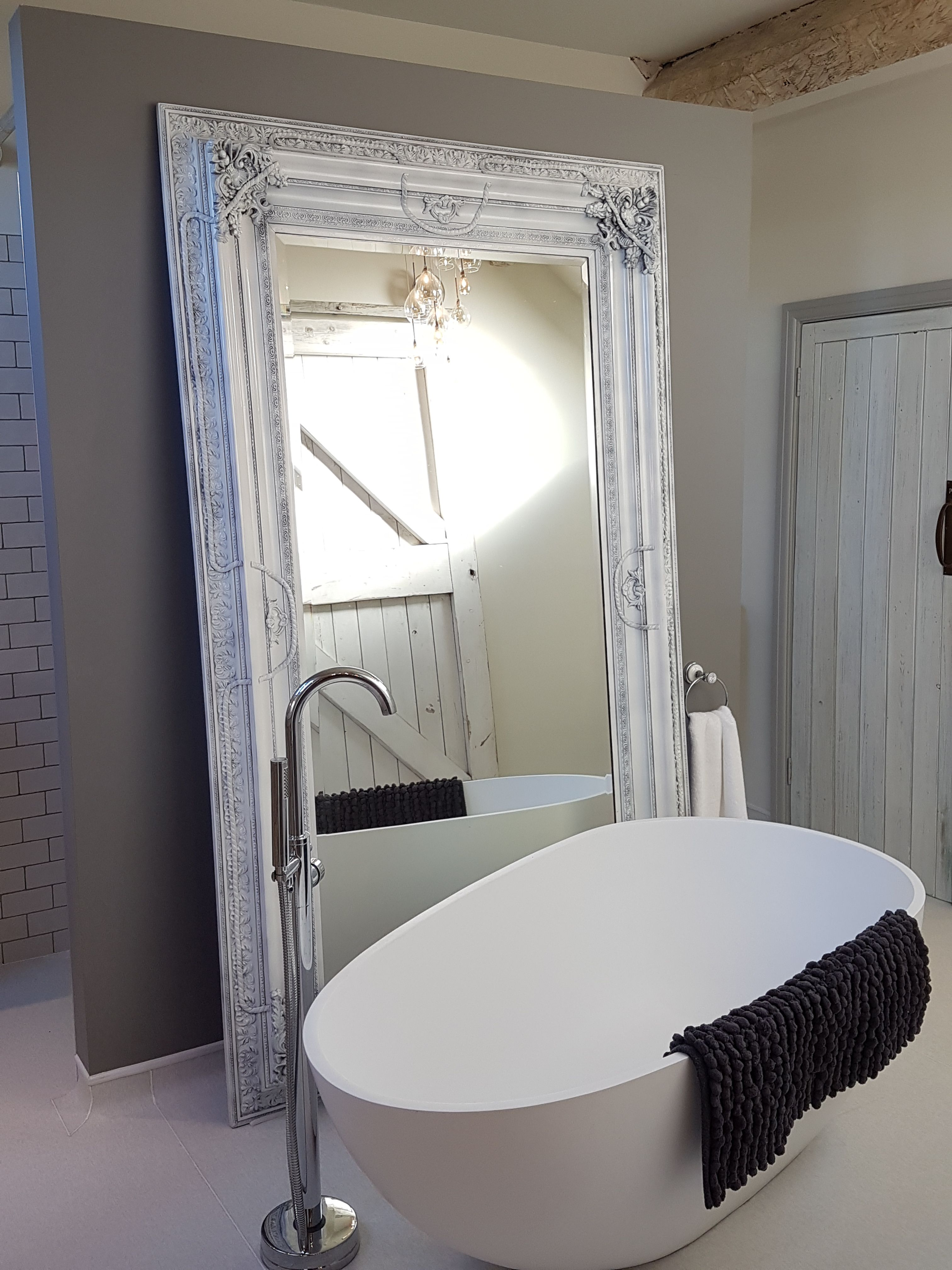Large Wall Standing Mirror 800 This Free Standing Wall Mirror Is Finished With A White Gloss Paint Standin Mirror Wall Bedroom Mirror Wall Mirror Design Wall 8 foot mirror for wall