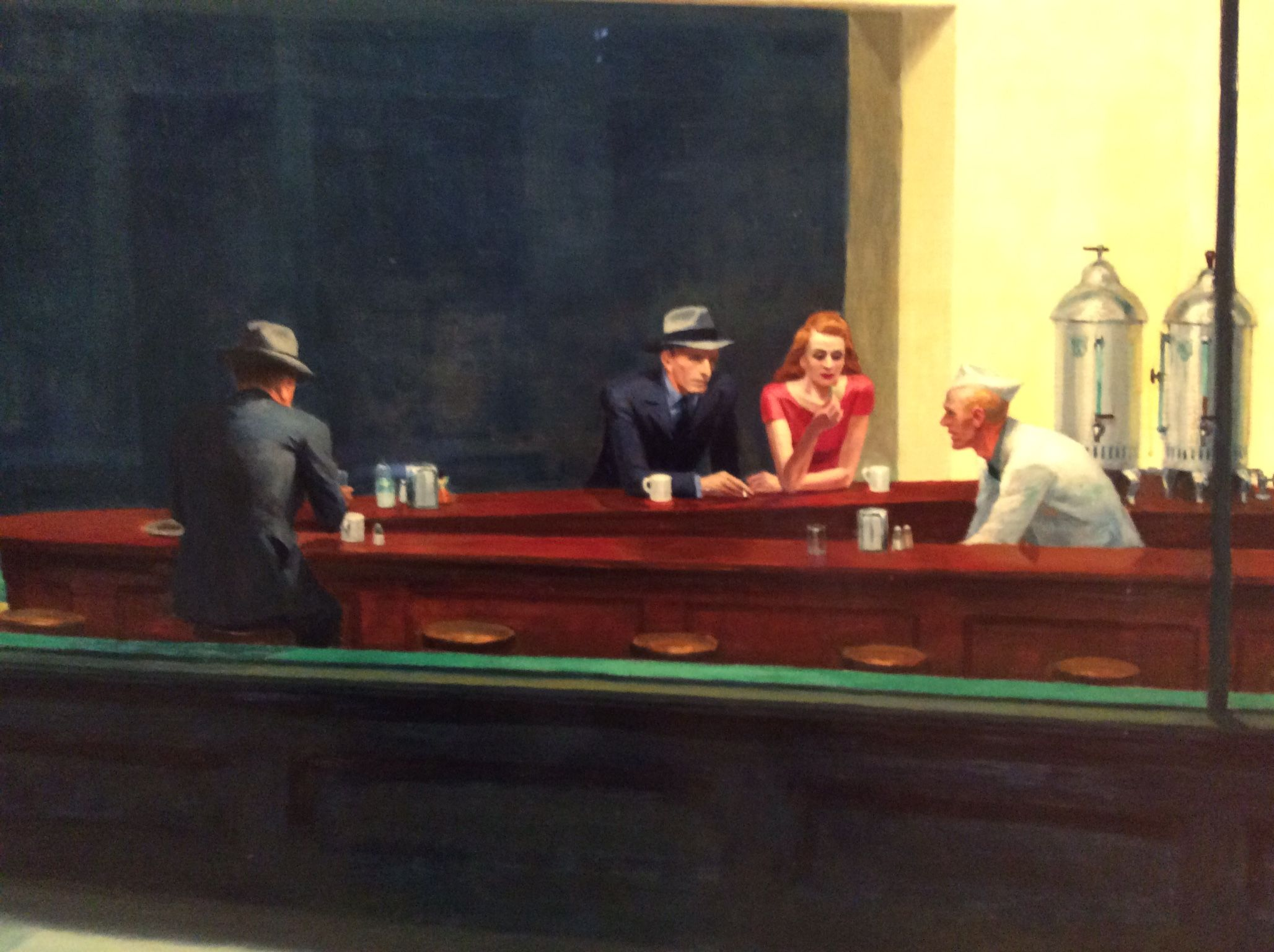 Edward Hopper - Nighthawks Close Art Institute Of