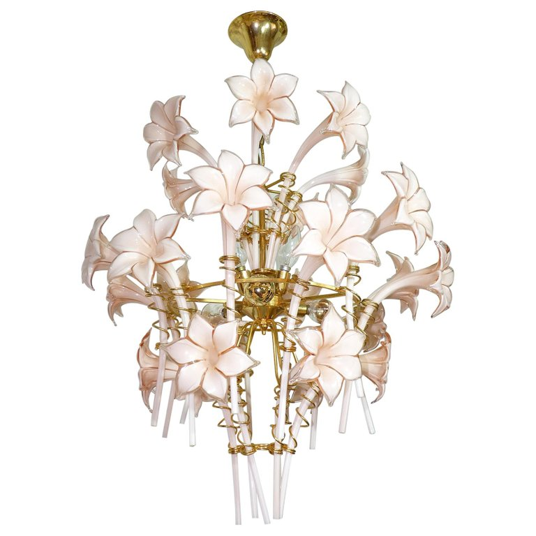 Italian Murano Art Glass Chandelier
