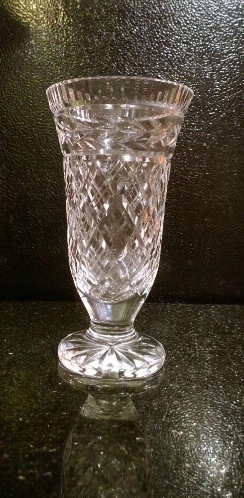 Waterford Lead Crystal Footed Flower Vase Waterfordcrystal Waterford Crystal Flower Vases
