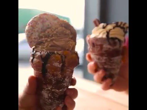 Heres how to make those donut ice cream cones that went viral the heres how to make those donut ice cream cones that went viral the other day ccuart Gallery