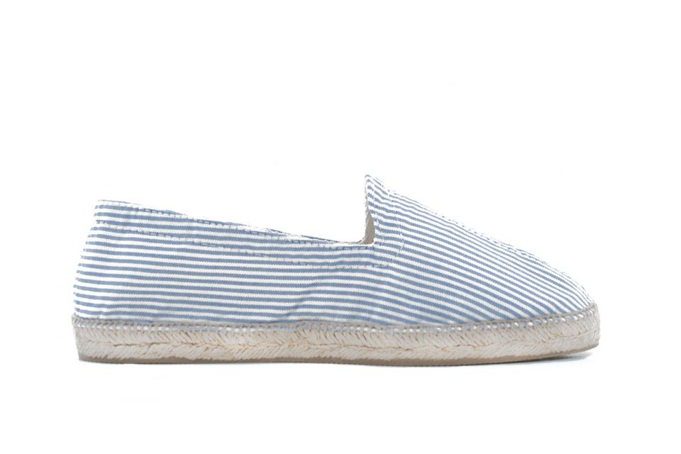 Rayo | Blue and White Striped Espadrilles