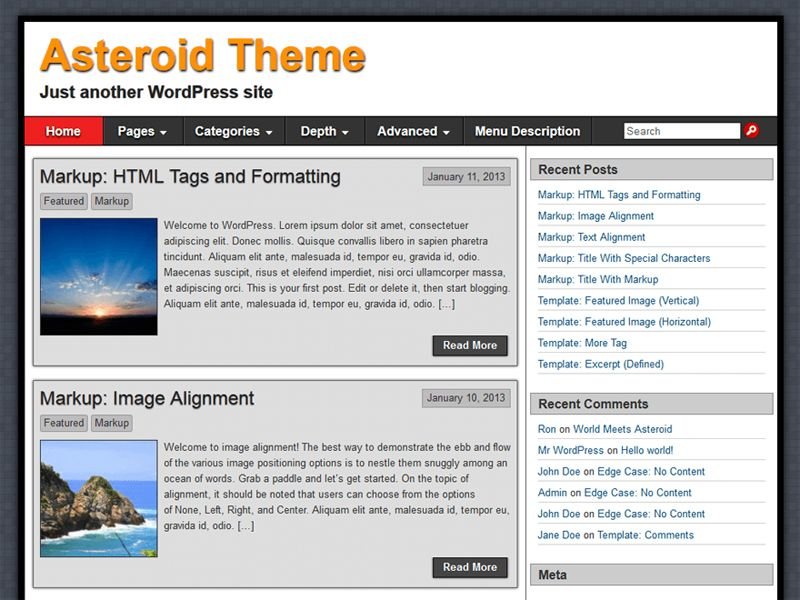 Asteroid Free WordPress Business Theme is a simple, clean and ...